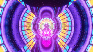 Neon Reflecting Fantasy World 4k uhd 3d illustration background