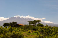 Snow capped Kenya's Kilimanjaro mountain