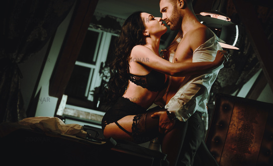 Couple indoors