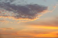Sunset sky on Nosy Be island in Madagascar