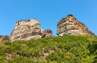Rocks of Meteora with Monastery of Varlaam