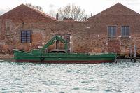 Crane Barge Boat