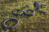 Tyres were deposed in the nature...