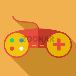 Modern flat design concept icon. Gamepad
