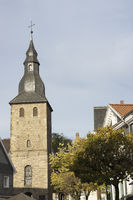Bell Tower of the Johannischurch in Hattingen, Ger