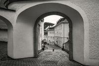 The gateway to the old town of Schwarzenberg
