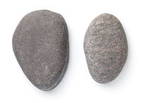 Two Dark Grey Stones Isolated Over White