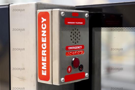 Emergency telephone subway
