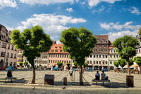 naumburg, germany - 18.06.2019 - market square in the old town