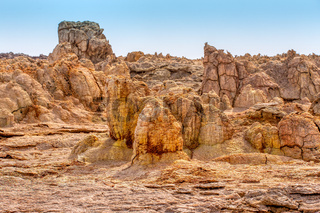 abstract landscape in Dallol, Danakil depression, Ethiopia