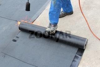 Abdichten eines Flachdachs