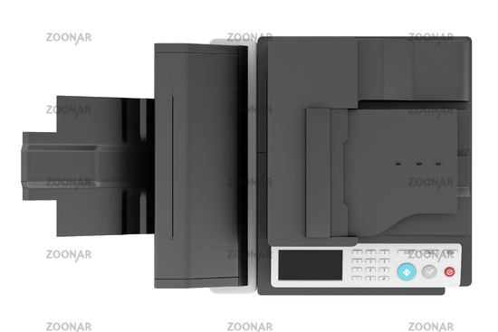 top view of modern office multifunction printer