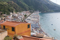 Beach in Nicotera with a view of the coast and sea in Calabria
