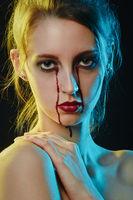 Halloween bloody makeup