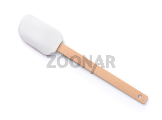Silicone kitchen spatula with wooden handle