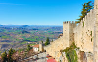 City walls of San Marino