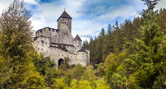 Taufers Castle from Sand in Taufers in South Tyrol Italy