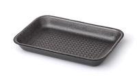 Gray empty foam food tray