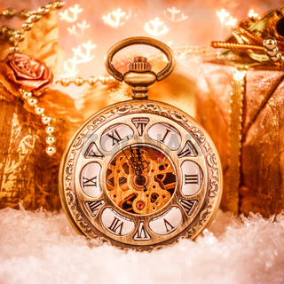 Christmas pocket watch