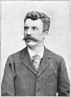 Portrait of Henri Rene Albert Guy de Maupassant (Guy de Maupassant) - a French author.