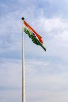 Indian Flag in Central Park New Delhi