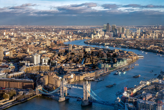 View from the Shard in London
