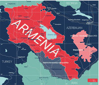 Armenia country detailed editable map