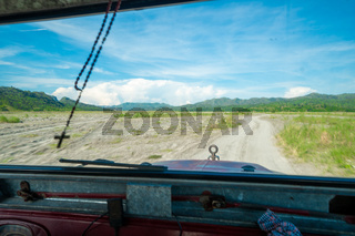 Drive to Mount Pinatubo in in the Philippines on the northern island of Luzon