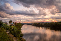 Cloudy skies over Nepean River Penrith