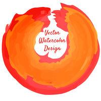Circle shape watercolor grunge banner design. Vector illustration.