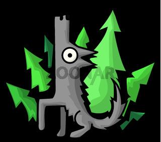 Wolf Woods Cartoon