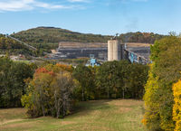 Monongalia County Mine in the fall countryside around Wana in West Virginia
