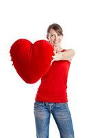 Valentine woman
