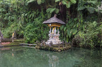 Small temple in a pond