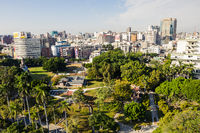 cityscape with trees in Taichung Park