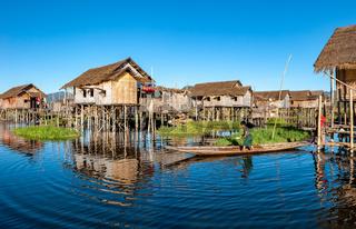 Floating village at Inle Lake, Myanmar