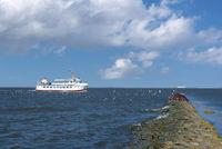 Excursion ship Wega II in the Weser estuary by Fedderwardersiel
