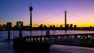 Sunset in Dusseldorf, Germany