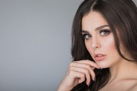 Beautiful brunette woman portrait