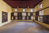 Lattice wooden windows, Mashrabiya, and sliding shutters at ottoman Amasely historic house