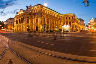 Österreich, Wien, Oper, Abenddämmerung