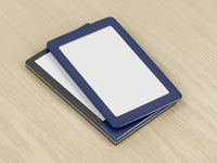 Two tablets or e-book readers with different designs