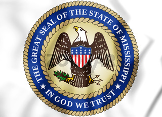 3D State Seal of the Mississippi, USA. 3D Illustration.