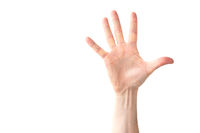 Woman open hand