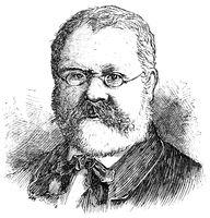 Portrait of Fritz Reuter (Heinrich Ludwig Christian Friedrich Reuter) - a German novelist.