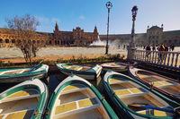 Boat hire for tourist attraction. PLaza de Espana, Spain