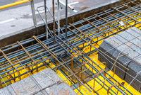 Detail of reinforced concrete slab under construction