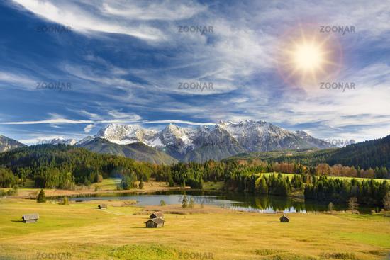 beautiful panoramic landscape in Bavaria, Germany