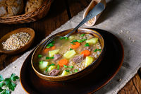 krupnik a delicious Polish barley soup