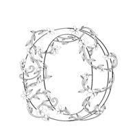 Letter O floral sketch